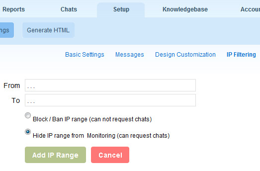 OCC IP Filtering Feature - Ban/Block & Hide IPs from OCC live chat
