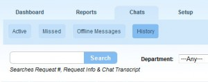 Search Chat Transcripts in Chat History