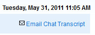Email Chat Transcript from Chat History