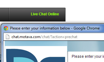 URL masking in live chat