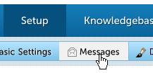 Account Dashboard - Setup   Messages