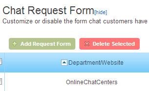 Chat Request Form