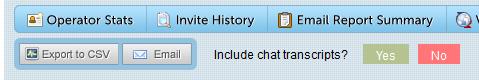 Chat transcript export